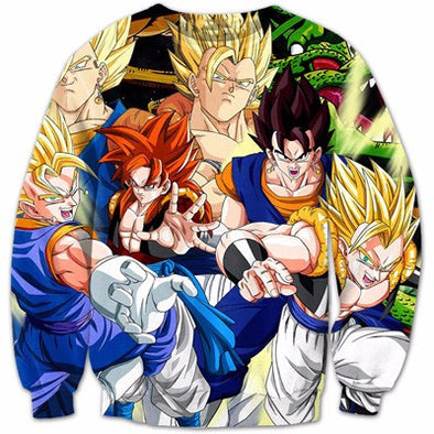 Dragon Ball Super Z - Gogeta and Vegito - Sweatshirt-Hoodie Time - Anime and Gaming Hoodies