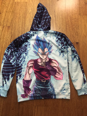 Dragon Ball Super Z - Super Saiyan Blue Vegeta GT Hoodie - Pullover 3D Clothing-Hoodie Time - Anime and Gaming Hoodies