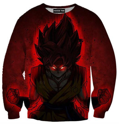 Dragon Ball Z Sweaters - Limit Breaker Kaio-ken Goku Sweatshirt - 360 DBZ Clothing-Hoodie Time - Anime and Gaming Hoodies