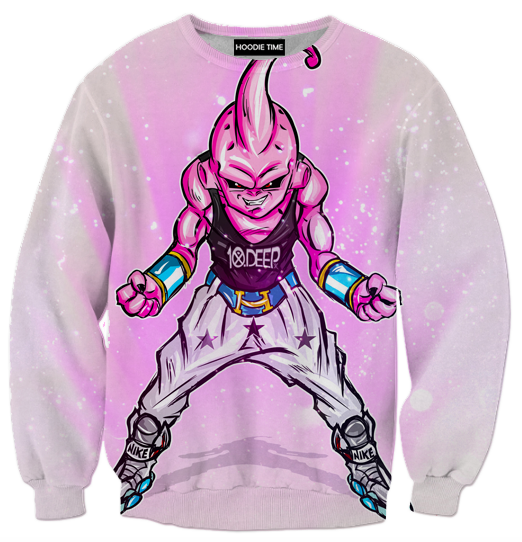 Dragon Ball Z Sweaters - Kid Buu Boo Streetwear Sweatshirt - DBZ 3D Clothing-Hoodie Time - Anime and Gaming Hoodies