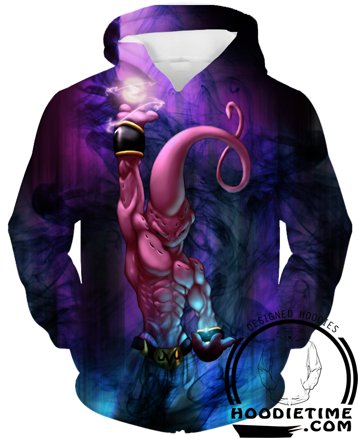 Dragon Ball Z - Super Buu Charging Blast - Pullover Hoodie - 3D Fashion-Hoodie Time - Anime and Gaming Hoodies