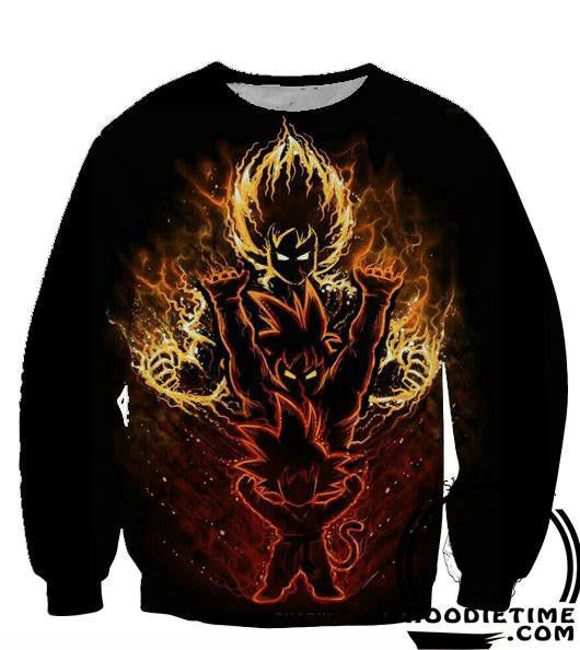 Dragon Ball Z Sweaters - Kid Gokus Evolution Sweatshirt - 360 3D Clothing-Hoodie Time - Anime and Gaming Hoodies