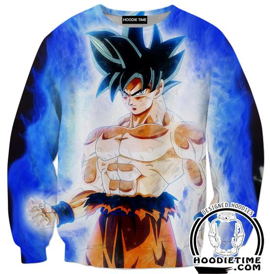 Limit Breaker Goku Sweaters - Dragon Ball Z Gym Sweatshirt Full Printed Clothing-Hoodie Time - Anime and Gaming Hoodies