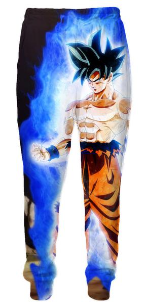 Limit Breaker Goku Sweatpants - Dragon Ball Z Gym Pants Full Printed Clothing-Hoodie Time - Anime and Gaming Hoodies