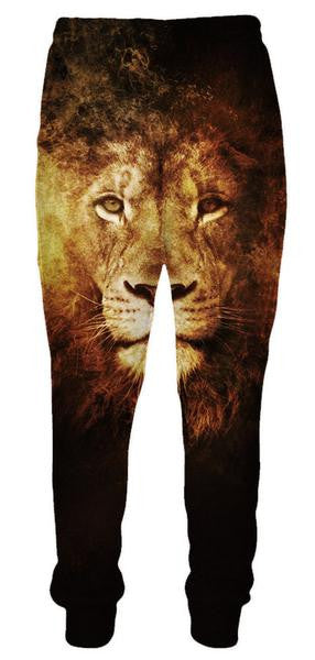 Lion Face Sweatpants - 3D Pants and Clothing-Hoodie Time - Anime and Gaming Hoodies