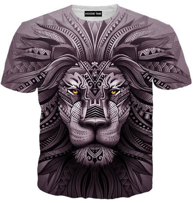Lion Zion T-Shirt - 360 Printed Clothing-Hoodie Time - Anime and Gaming Hoodies