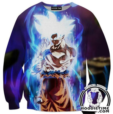 MUI Mastered Ultra Instincts Goku Sweatshirt - Dragon Ball Super Sweaters Clothing-Hoodie Time - Anime and Gaming Hoodies