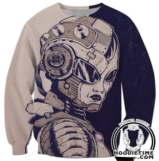 Mecha Freeza Frieza Sweatshirt - Dragon Ball Super Z Sweaters - DBZ 360 Clothing-Hoodie Time - Anime and Gaming Hoodies