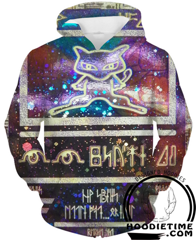 Pokemon - Ancient Mew Rare Card Hoodie - Pullover 3D Hoodie-Hoodie Time - Anime and Gaming Hoodies