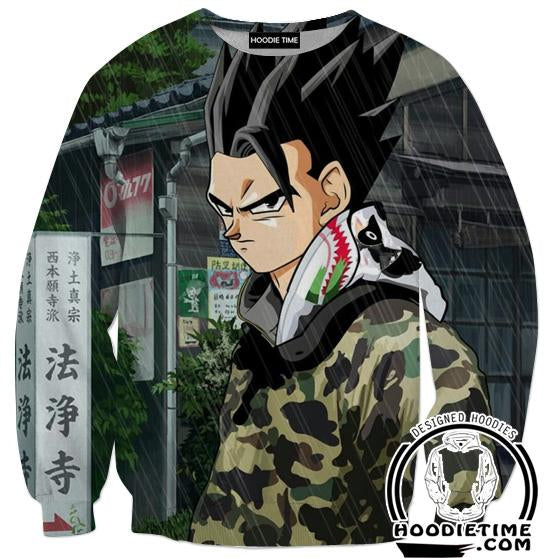 Mystic Gohan Streetwear Sweatshirt - Dragon Ball Z Sweaters Full Printed Clothing-Hoodie Time - Anime and Gaming Hoodies