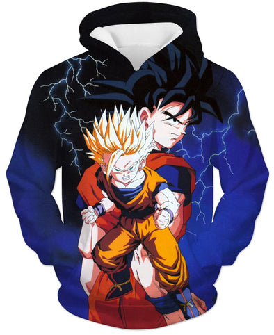 Old School Dragon Ball Z Artwork Hoodie - DBZ Clothing Hoodies-Hoodie Time - Anime and Gaming Hoodies