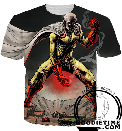 One Punch Man - Serious Saitama T-Shirt - 3D Shirts-Hoodie Time - Anime and Gaming Hoodies