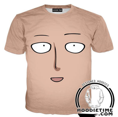 One Punch Man Shirts - Saitama Face T-Shirt - Anime Clothing-Hoodie Time - Anime and Gaming Hoodies