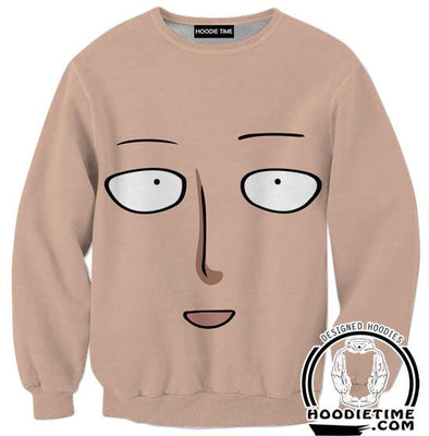 One Punch Man Sweaters - Saitama Face Sweatshirt - Anime Clothing-Hoodie Time - Anime and Gaming Hoodies