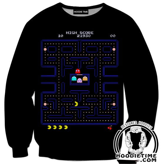 Pacman Sweatshirt - Pacman Level Sweaters - Video Game Clothes