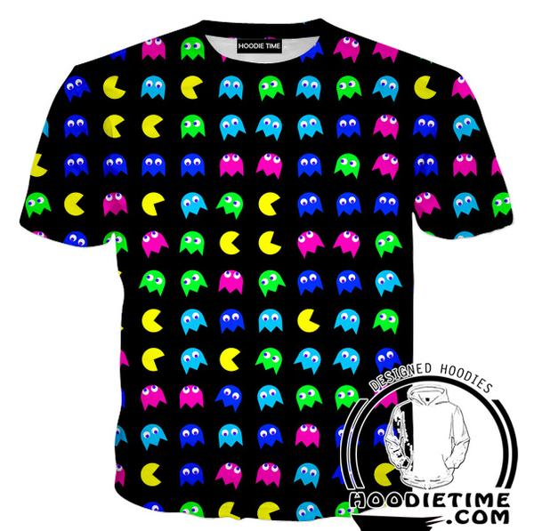 Pacman T-Shirt - Pacman Ghost Shirts - Video Game Clothes