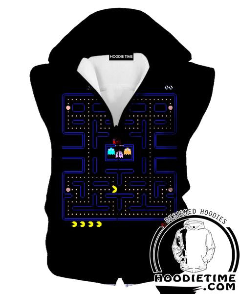 Pacman Hooded Tank - Pacman Level Hoodies - Video Game Clothes