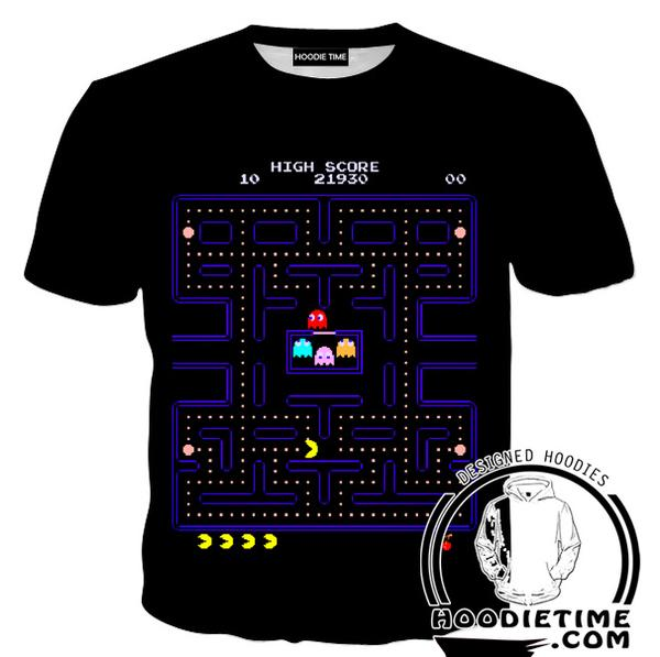 Pacman T-Shirt - Pacman Level Shirts - Video Game Clothes