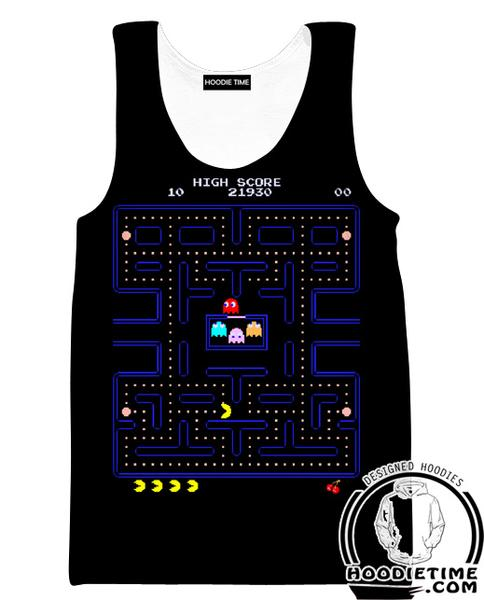 Pacman Tank Top - Pacman Level Gym Shirts - Video Game Clothes