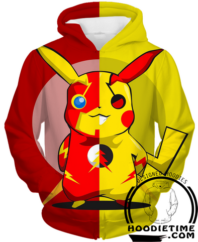 Flash pikachu pokemon 3d hoodie hoodies