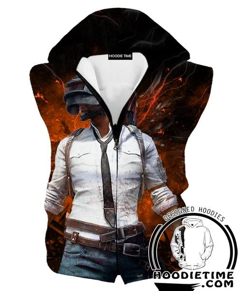PubG Hooded Tank - Battleground Hoodie - Video Game Clothes