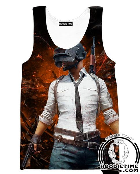 PubG Tank Top - Battleground Gym Shirts - Video Game Clothes