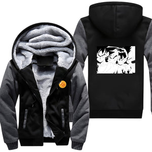 Dragon Ball Z - Classic Z Warriors Namek - Zip-up Hoodie-Hoodie Time - Anime and Gaming Hoodies