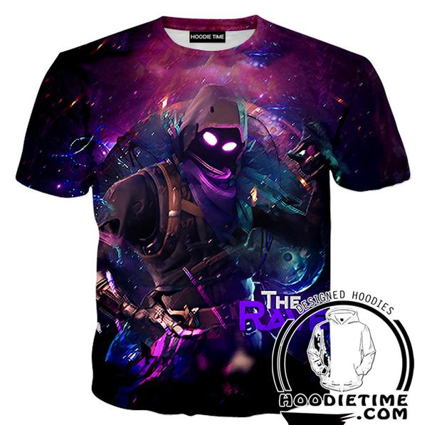Raven Fortnite Shirts - Raven Skin T-Shirt - Fortnite Apparel-Hoodie Time - Anime and Gaming Hoodies