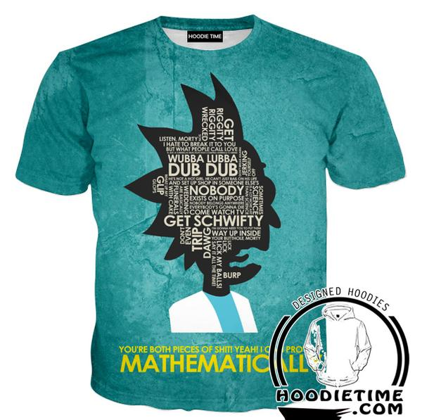Rick and Morty Shirts - Prove It Mathematically T-Shirt - Full Printed Clothing-Hoodie Time - Anime and Gaming Hoodies
