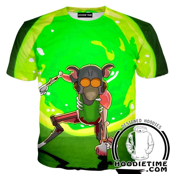 Rick and Morty Shirts - Super Pickle Rick T-Shirt - Full Printed Clothing-Hoodie Time - Anime and Gaming Hoodies