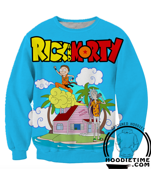 Rick and Morty Sweaters - Rick and Morty and Dragon Ball Z Sweatshirt - R&M 3D Clothing-Hoodie Time - Anime and Gaming Hoodies