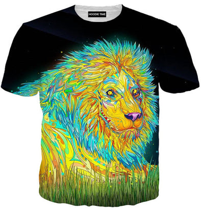 colorful lion 3d t-shirt 360 design