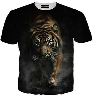 Creeping Tiger T-Shirt - 360 Printed Clothing-Hoodie Time - Anime and Gaming Hoodies