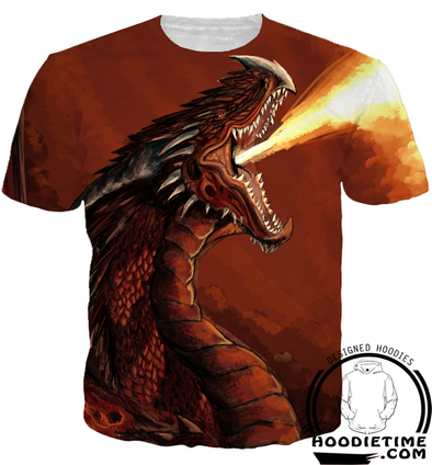 fire dragon t-shirt shirts clothing clothes