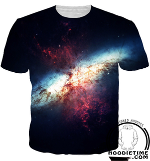 Galaxy Space Explosion Hoodie - 3D Pullover Hoodies and Clothing-Hoodie Time - Anime and Gaming Hoodies