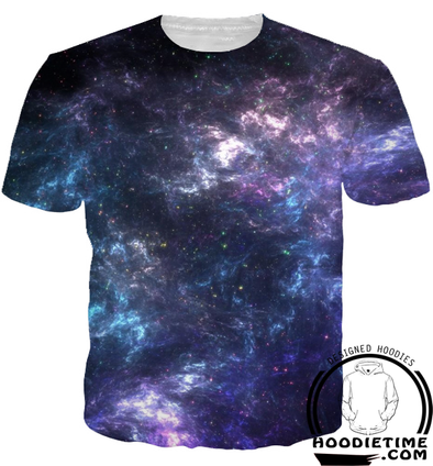 3d galaxy purple shirt cool design