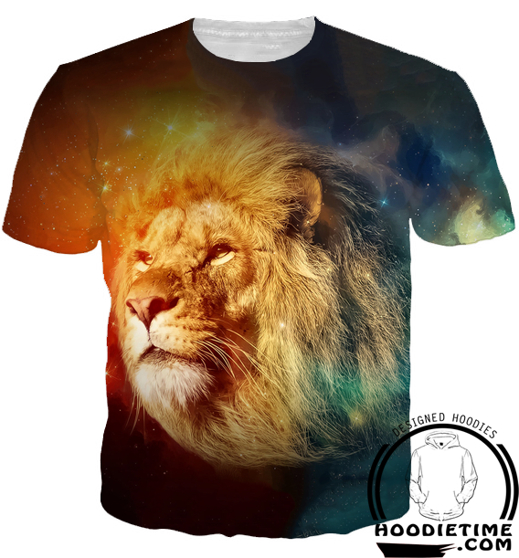 galaxy lion tank top cool 3d gym shirt