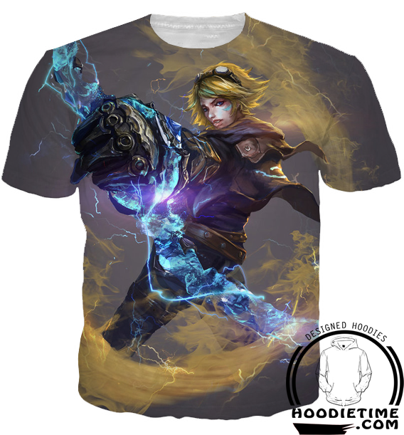 League of legends ezreal hoodie 3d pullover clothing for Ez custom t shirts