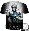 ezreal t-shirt clothes lol league of legends