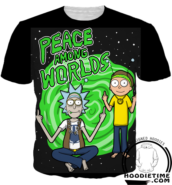 rick and morty peace among worlds 3d t-shirt clothing clothes
