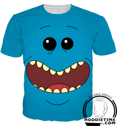 mr meeseeks t-shirt rick and morty clothes