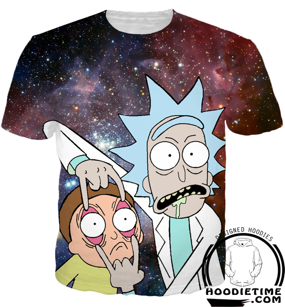 rick and morty t-shirt eye funny