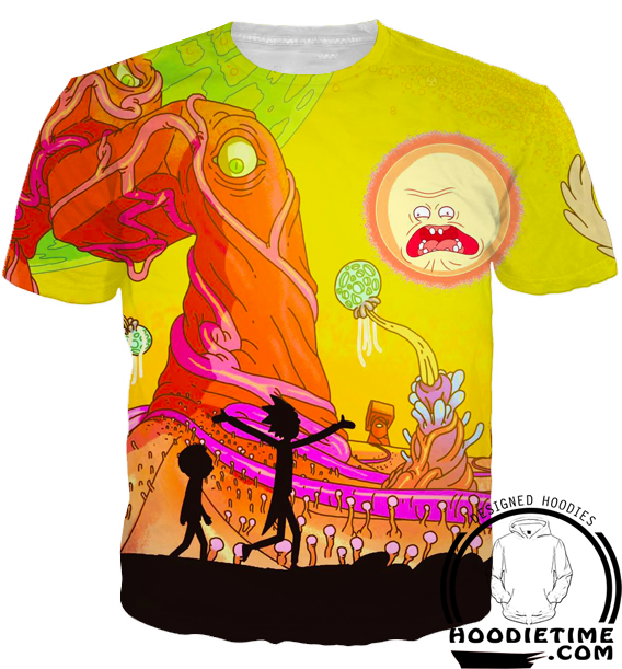 rick and morty 3d t-shirt adventure cool season 3