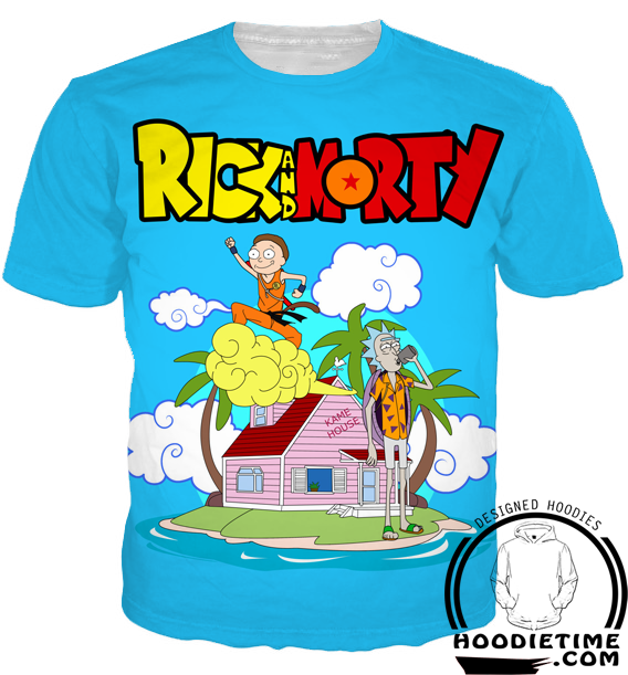 Rick and Morty T-Shirt dragon ball z