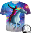 Death-pool With Unicorn Shirt - Printed T-Shirts Clothing-Hoodie Time - Anime and Gaming Hoodies