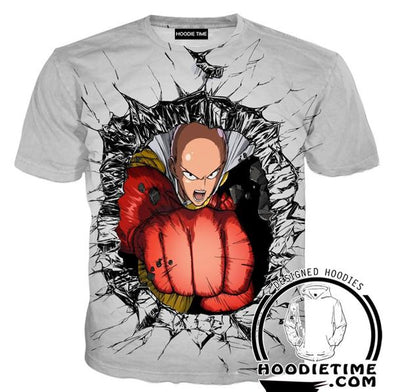 Saitama Punch T-Shirt - One Punch Man Shirts - Anime Clothing-Hoodie Time - Anime and Gaming Hoodies