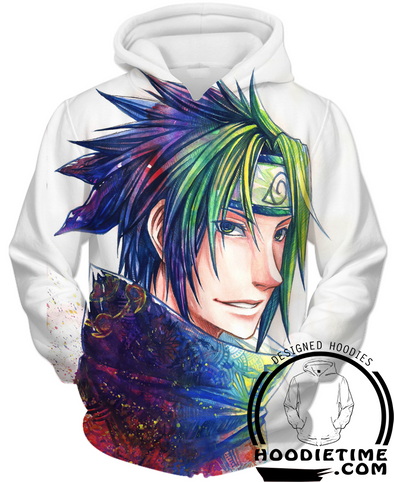 Naruto - Colorful Young Sasuke Hoodie - Pullover Hoodie 3D-Hoodie Time - Anime and Gaming Hoodies