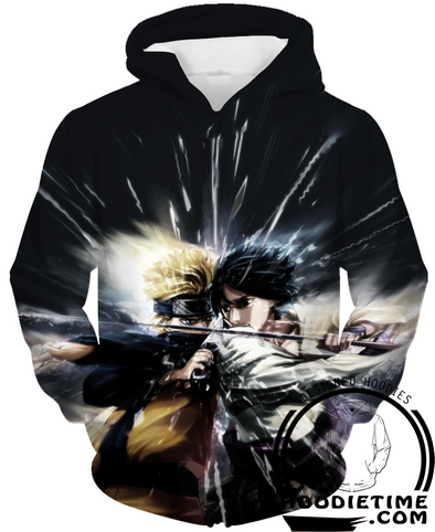 Naruto vs Sasuke Battle Hoodie pullover hoodies