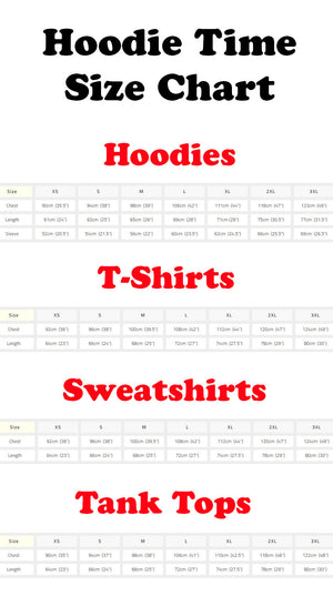 hoodie time sizing guide