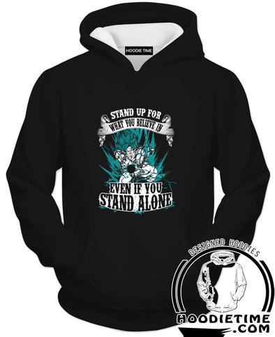 Stand up for what you Believe in Goku Hoodie - Dragon Ball Z Hoodies-Hoodie Time - Anime and Gaming Hoodies